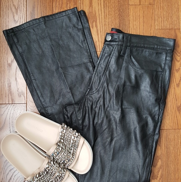 sixty-italy Pants - Sixty Italy black faux leather pants